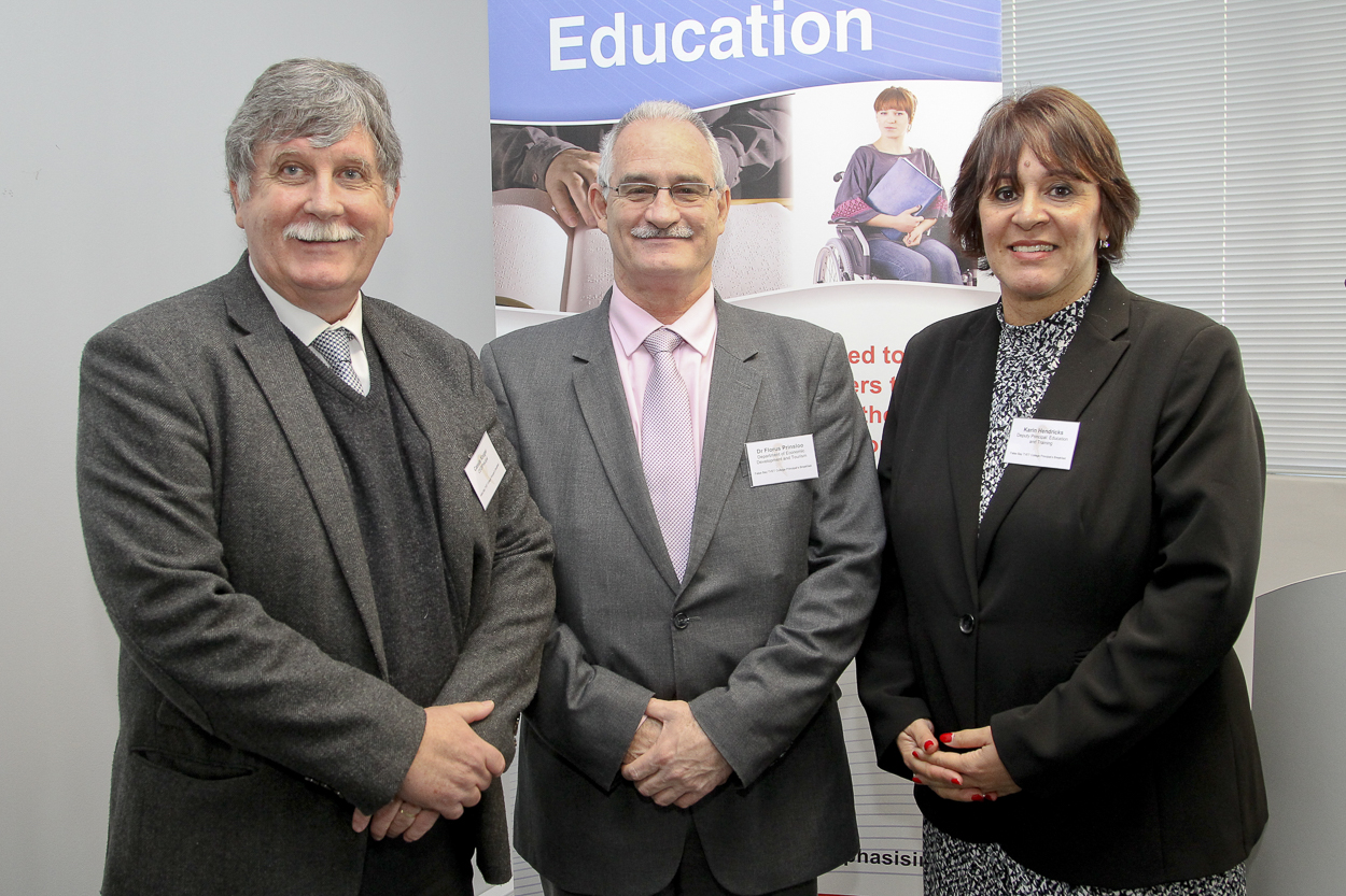 From Left to Right Cassie Kruger Dr Florus PJ Prinsloo and Ms Karin Hendricks